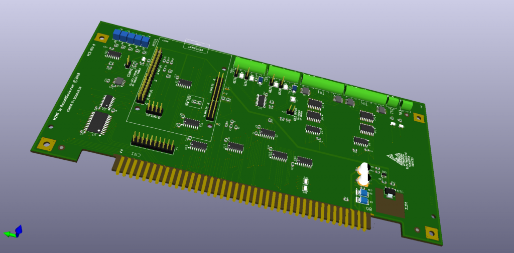 Another 3D rendering of the M2MT board